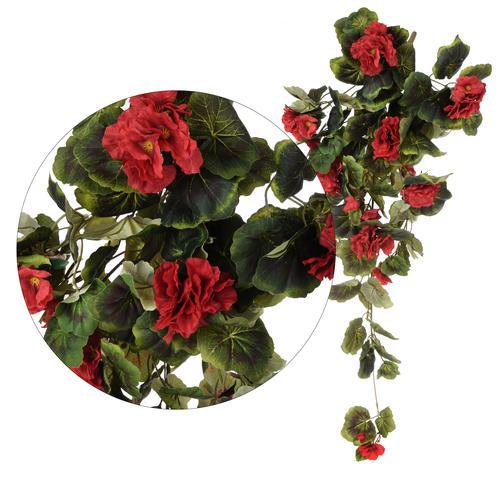 dekoracyjne pnącza ze sztucznymi kwiatami