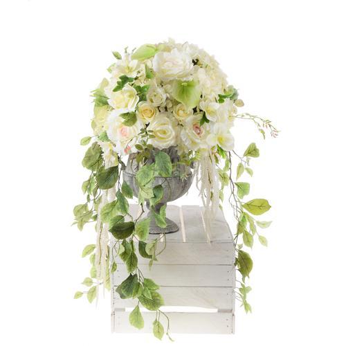 kompozycja ślubna sztuczne kwiaty