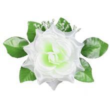 Róża rozwinięta z listkami - główka (W674)